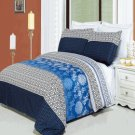 Lydia Printed 3 pc Duvet Set Egyptian Cotton Full/Queen