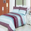 Kimberly Printed 8 pc Duvet Set Egyptian Cotton Queen