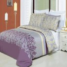 Brielle Printed 8 pc Duvet Set Egyptian Cotton Queen