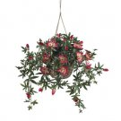 Neary Natural Artificial Passion Flower Silk Hanging Basket