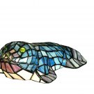 """Stained Glass 3.5""""H Tiffany Seal Accent Lamp"""
