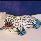 """Stained Glass 6.5""""H Tiffany Seal Accent Lamp"""