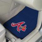 MLB- Atlanta Braves 2 pc Carpeted Floor mats