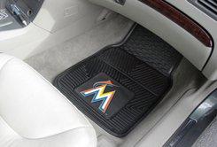 MLB- Miami Marlins 2 pc Heavy Duty Vinyl Floor mats