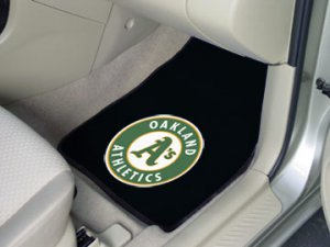 MLB- Oakland Athletics 2 pc Carpeted Floor mats