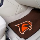 Bowling Green State University Falcons Brown Background 2 pc Carpeted Floor mats