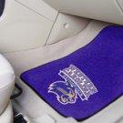 Western Carolina  University Catamounts 2 pc Carpeted Floor mats