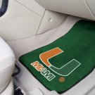 University of  Miami  2 pc Carpeted Floor mats