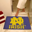 Notre Dame ND Irish 2 pc Carpeted Floor mats
