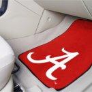 University of Alabama Crimson A 2 pc Carpeted Floor mats