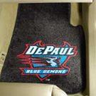 Depaul University Blue Demons 2 pc Carpeted Floor mats