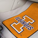 University of Illinois  2 pc Carpeted Floor mats