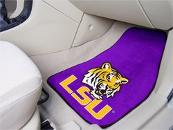 Louisiana State University LSU  2 pc Carpeted Floor mats