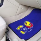 University of Kansas KU 2 pc Carpeted Floor mats