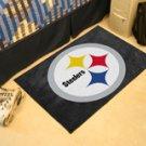 "NFL -Pittsburgh Steelers 19""x30"" carpeted bath door entry way mat"