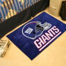 "NFL -New York Giants 19""x30"" carpeted bed mat"