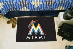 "MLB-Miami Marlins 19""x30"" carpeted bed mat"