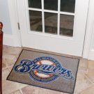 "MLB-Milwaukee Brewers 19""x30"" carpeted bed mat"
