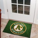 "MLB-Oakland Athletics 19""x30"" carpeted bed mat"