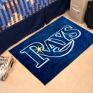 "MLB-Tampa Bay Rays 19""x30"" carpeted bed mat"
