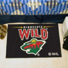 "NHL-Minnesota Wild 19""x30"" carpeted bed mat"