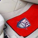 NBA- New Jersey Nets 2 pc Carpeted Floor mats Front