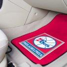 NBA- Philadelphia 76ers 2 pc Carpeted Floor mats Front