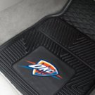 NBA-Oklahoma City Thunder 2 pc Heavy Duty Vinyl Floor mats Front