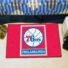 "NBA-Philadelphia 76ers 19""x30"" carpeted bed mat"