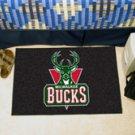 """NBA-Milwaukee Bucks 19""""x30"""" carpeted bed mat"""