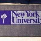 """New York University NYU  19""""x30"""" carpeted bed mat/door mat"""