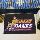 "Great Danes University at Albany 19""x30"" carpeted bed mat/door mat"