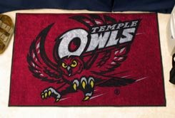 "Temple University Owls 19""x30"" carpeted bed mat/door mat"