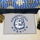 """University of Connecticut Huskies 19""""x30"""" carpeted bed mat/door mat"""