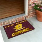 "Central Michigan University Chippewas 19""x30"" carpeted bed mat/door mat"