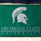 "Michigan State University 19""x30"" carpeted bed mat/door mat"