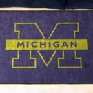 "University of Michigan 19""x30"" carpeted bed mat/door mat"