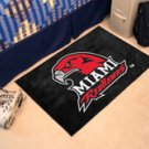 "Miami of Ohio Redhawks 19""x30"" carpeted bed mat/door mat"