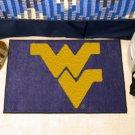 """West Virginia University WVU 19""""x30"""" carpeted bed mat/door mat"""