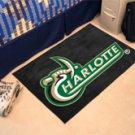 "UNC University of North Carolina Charlotte 19""x30"" carpeted bed mat/door mat"