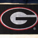 "University of Georgia G logo on Black 19""x30"" carpeted bed mat/door mat"