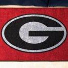 "University of Georgia G logo on Red 19""x30"" carpeted bed mat/door mat"