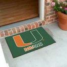 "University of Miami 19""x30"" carpeted bed mat/door mat"