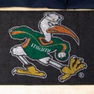 "University of Miami Sebastian the Ibis 19""x30"" carpeted bed mat/door mat"