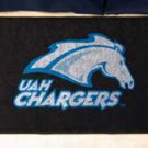 "University of Alabama at Huntsville UAH Chargers 19""x30"" carpeted bed mat/door mat"
