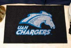 "University of Alabama at Huntsville UAH Chargers 19""x30"" carpeted bed mat/door mat"