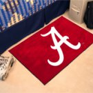 "University of Alabama Crimson A 19""x30"" carpeted bed mat/door mat"