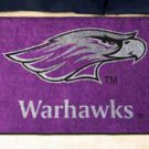 "University of Wisconsin Whitewater Warhawks 19""x30"" carpeted bed mat/door mat"