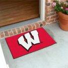 """University of Wisconsin Badgers 19""""x30"""" carpeted bed mat/door mat"""