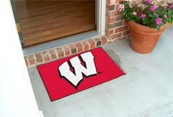 "University of Wisconsin Badgers 19""x30"" carpeted bed mat/door mat"